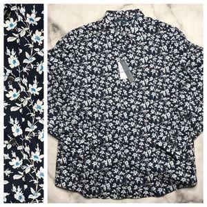 💥 Perry Ellis slim fit floral button down XL